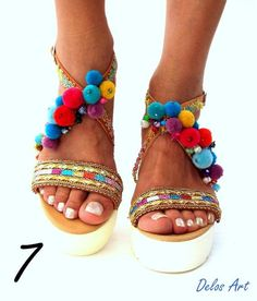 Slides sandals, Leather Sandals, Handmade Greek sandals