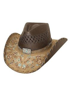 af775523188431 Bullhide Never Give Up Shantung Panama Straw Vented Cowgirl Hat [2784]