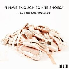 One, Two, Six, Nine? How many pointe shoes do you have in your dance bag?…