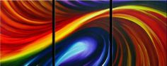 3PC SALE MODERN ABSTRACT HUGE WALL ART OIL PAINTING (no frame) A134