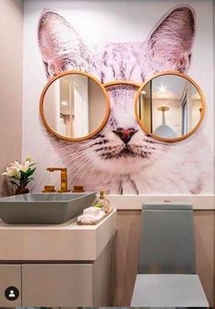 quirky bathroom decor for cat lovers # quirky Home Decor Quirky Home Decor, Cheap Home Decor, Diy Home Decor, Cheap Bathroom Remodel, Cheap Bathrooms, Shower Remodel, Quirky Bathroom, Modern Bathroom, Bathroom Ideas