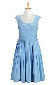eShakti Eleanor dress:  Placid blue