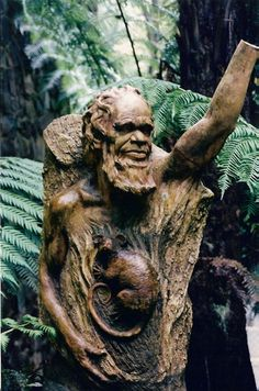 A 'must do' is a visit to the William Ricketts Sanctuary in the Dandenongs. Just a short drive from the city's centre, head up into the Dandenong Mountains to discover the most unique and tranquil garden, filled with the incredible artwork done by the scu Aboriginal History, Aboriginal Culture, Aboriginal People, Aboriginal Art, Art Sculpture, Abstract Sculpture, Tree People, Australia Living, Environmental Art