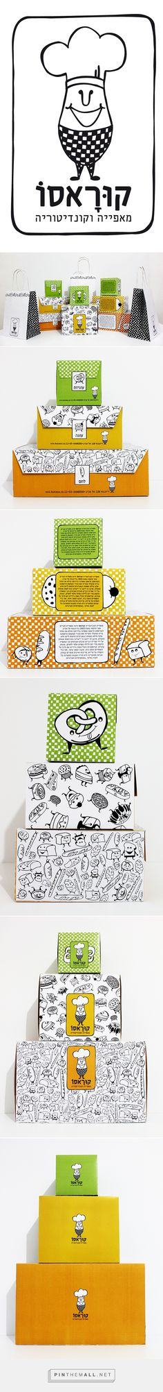 Branding, graphic design and packaging for bakery on Behance by Elinor Weiss, Tel Aviv, Israel curated by Packaging Diva PD. The cutest little bakery icons. Look at the pretzel : )