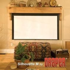 Silhouette/series M Autoreturn 106 HDtv by Draper Inc. $524.99. 202297 Features: -Viewing surface pulls down easily, like a standard spring roller operated projection screen.-Return the screen to the case with a simple pull no repetitive tugging or downward momentum is required to engage the AutoReturn Roller.-Screen surface retracts slowly and smoothly into the case, slowing even more as it approaches its upper limit.-Intermediate stop positions allow you to lower or...