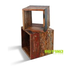 Recycled Boat Wood Cubes Cubes, Reclaimed Wood Furniture, Teak, Home Accessories, Recycling, Storage, Home Decor, Purse Storage, Decoration Home