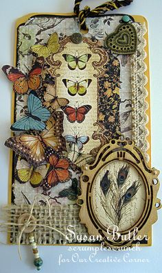 Beautiful butterfly tag  Our Creative Corner