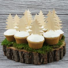 Wilderness Cupcake Toppers by WonderfulCollective on Etsy https://www.etsy.com/listing/164454454/wilderness-cupcake-toppers