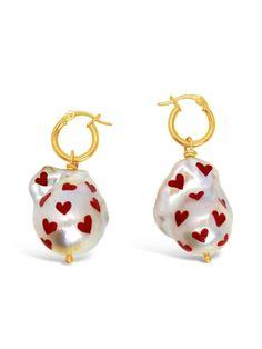 Big Pearl Lovin'   July Child Jewellery Sterling Silver Hoops, Silver Hoop Earrings, Drop Earrings, Kids Jewelry Box, Jewellery Boxes, Paint Drop, Queen, Jewelry Branding, Pearl Jewelry