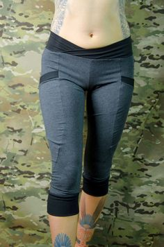 Eco Hand dyed winter yoga pants with pockets in by Crossfox ...