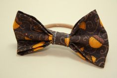 Fall Acorn Brown Bow Hair Band by LittlePeachFuzz on Etsy, $3.00