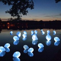 Glowsticks in balloons on water-so cool!
