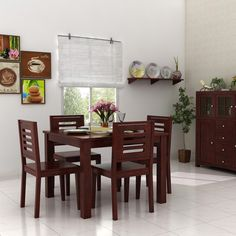 A happy meal with a happy family! Bring home Woodenstreet's beautiful elegant a 4 seater Dining table set made from Solid Sheesham wood which is a perfect choice for a Small family. 4 Seater Dining Table, Dinning Table, Porsche 4 Seater, Furniture Ads, Home Decor Furniture, Small Dining Sets, Wooden Street, Interior, Happy Family