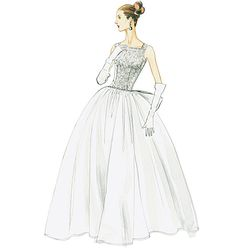 V8729, Misses' Dress and Underskirt- Not sure if I still want to make my own dress but this is one of the patterns I would use to mock up a design
