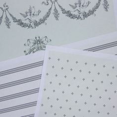 Free Printable French Themed Dollhouse Wallpapers in Three Scales