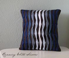 pillow using fabric scraps...