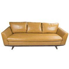 Lily Retro Leather Sofa