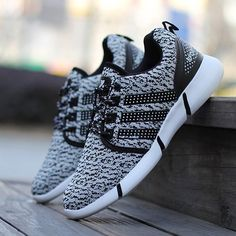 $13.52 Casual Men's Athletic Shoes With Lace-Up and Stripe Design