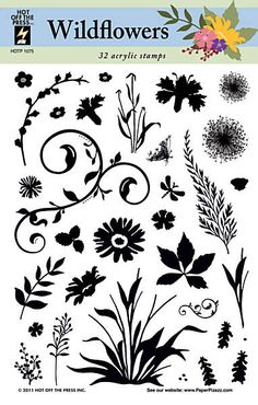 Wildflowers Stamps by Hot Off The Press Inc (4001075)