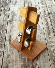 Modern, handmade watch stand watch display watch holder más - my wood crafting(diy furniture modern) Diy Wood Projects, Wood Crafts, Woodworking Projects, Diy And Crafts, Woodworking Store, Woodworking Wood, Handmade Furniture, Diy Furniture, Modern Furniture