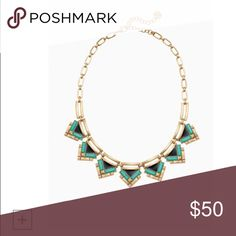 """SALE NIB  Stella & Dot Zia Necklace A geometric mix of jade green stones with black enamel accents create the perfect everyday statement. Wear alone, pair with your Gold Sutton Necklace, or layer with your favorite delicates for a more modern look.    Vintage gold plating. 17"""" with 3"""" extender.  Lobster clasp closure. Copyright © 2015 Stella & Dot LLC. Stella & Dot Jewelry Necklaces"""