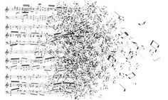 Music Notes Isolated on white Background. Vector