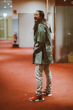 Steve Aoki wearing Dim Mak Logo Jacket, Adidas Pharell Human Race NMD Sneakers Dope Outfits, Sport Outfits, Winter Outfits, Summer Outfits, Casual Outfits, Gym Outfits, Fitness Outfits, Fashionable Outfits, Workout Outfits