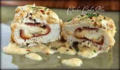Slow Cooker – CHICKEN CORDON BLEU...This looks amazing!  From Get Off your butt and Bake!