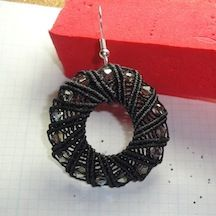 By Patty Stabile. Whimsical Wheel Earrings. Project # 5.