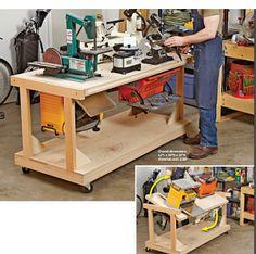 Ah! E se falando em madeira...: Carrinho para várias maquinas Simultaneas, projeto gratuito no blog: