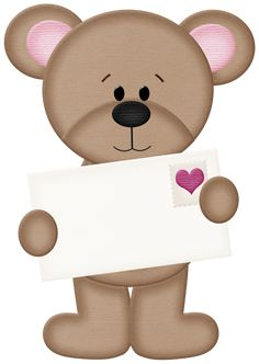 Valentine Bear PNG Clipart