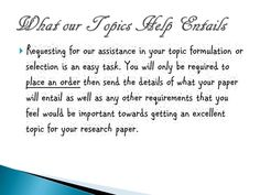 Research paper TOPICS!!! help???