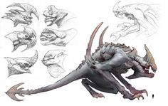 Concept artist at turtle rock studios fantasy monster, monster concept art Monster Concept Art, Fantasy Monster, Monster Art, Monster High, Alien Concept, Alien Creatures, Fantasy Creatures, Mythical Creatures, Creature Concept Art