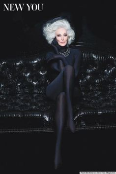 Still A Model In Her 80's. She Is Gorgeous.
