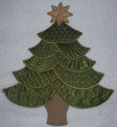 Embroidered Christmas Tree Front
