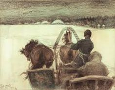 Leonid Pasternak The road to Clear Polyana