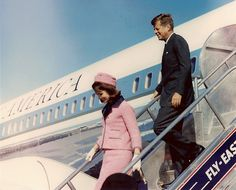 Arrival of President Kennedy and the First Lady at Love Field in Dallas, November 22, 1963, which would become the last day of Kennedy's life.