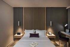 One Bedroom Apartment, Apartment Design, Home Bedroom, Modern Bedroom, Bedroom Decor, Luxury Bedroom Design, Bedroom Bed Design, Home Staging, Lounge Decor