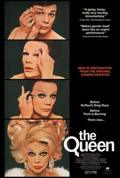 Movie Trailers - The Queen - Trailer: Decades before Paris Is Burning and RuPaul's Drag Race, this ground-breaking documentary… - View Cool Posters, Film Posters, Upcoming Movie Trailers, Paris Is Burning, Queen Movie, Queen Poster, Transgender Model, Queen Aesthetic, Rupaul Drag