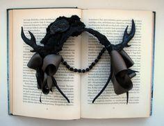 Gothic Lolita fantasy Enchanted deer horns hair band.