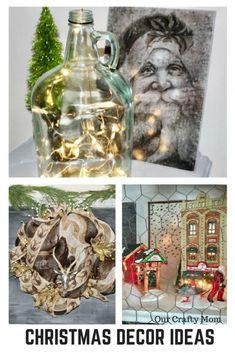 Holiday Home Tour Blog Hop 2017 Our Crafty Mom #ChristmasDecor #ChristmasDecorations #Christmasideas