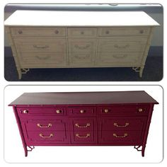 Give this dresser and chains and nobs a new coat of paint and you'll hardly notice how pale and dull it was before.