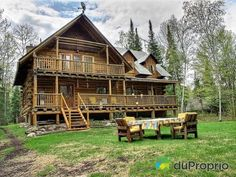 1000 images about chalets et maisons de campagne on for Maison bois quebec