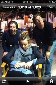 "@KaleyCuoco Tweets - Part two of ""take advantage of kaley while napping"" pics. Yep that's @simonhelberg and our professional director Mark"