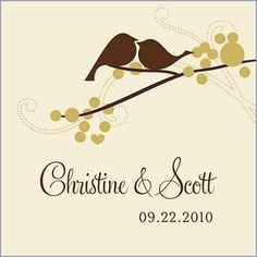Different bird-related wedding stuff.