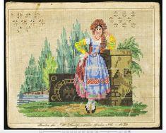 Vintage Cross Stitches, Vintage Embroidery, Embroidery Patterns, Mini Cross Stitch, Cross Stitch Charts, Retro 4, Vintage Wool, Kite, Needlepoint
