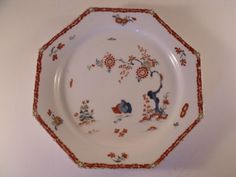 A Rare Mid C18th English Bow Porcelain Octagonal Plate - c1755  £229