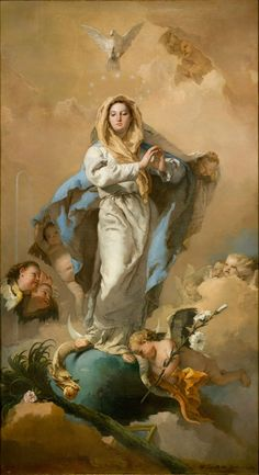 Giambattista Tiepolo, Italian 1696–1770, worked in Spain 1762–70, The Immaculate Conception (L'Immacolata Concezione) 1767–69. oil on canvas...
