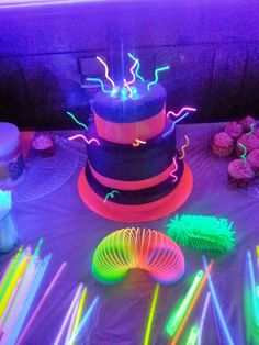 Glow in the dark cake I made for my daughter