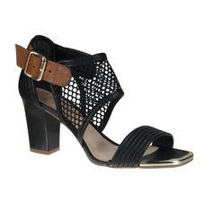 Sandália Tanara N6304 - Preto (Tela/Mayo) - Calçados Online Sandálias, Sapatos e Botas Femininas | Katy.com.br
